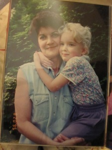 My mother and I, August 1995