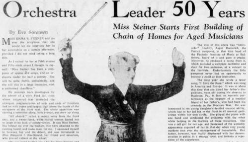 Emma Steiner orchestra leader