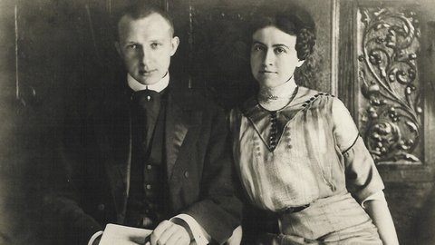 Olga and Stokowski in Philadelphia, c1911